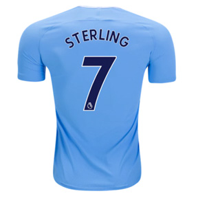 Nike Youth Manchester City Sterling #7 Jersey (Home 17/18)
