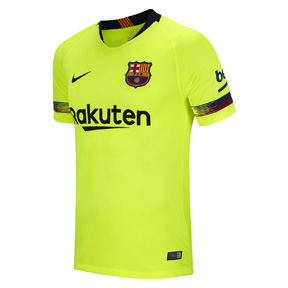 Nike Youth Barcelona Soccer Jersey (Away 18/19)