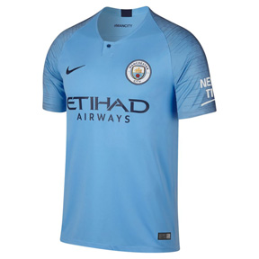 Nike Youth Manchester City  Soccer Jersey (Home 18/19)