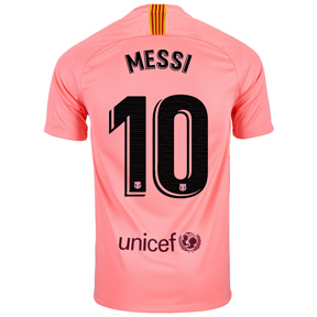 Nike Youth Barcelona Lionel Messi #10 Jersey (Alternate 18/19)
