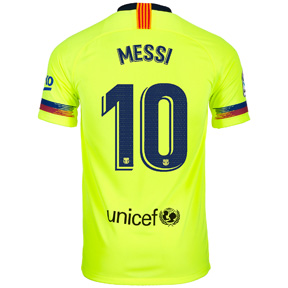 Nike Youth Barcelona Lionel Messi #10 Jersey (Away 18/19)
