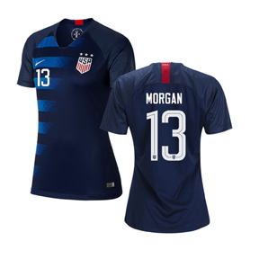 Nike Womens  USA  Alex Morgan #13 USWNT Jersey (Away 18/19)