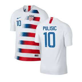Nike Youth USA Christian Pulisic #10 Soccer Jersey (Home 18/19)