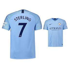 Nike Youth Manchester City  Sterling #7 Soccer Jersey (Home 18/19)