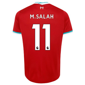Nike Youth  Liverpool  FC Salah #11 Soccer Jersey (Home 20/21)