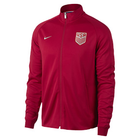 Nike USA Authentic N98 Soccer Track Top (Gym Red 17/18)