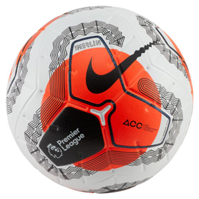 Nike  Merlin  Premier League 19/20 Match Soccer Ball (White/Orange)