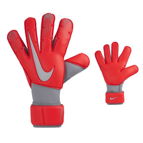 Nike GK  Vapor Grip  3 Soccer Goalie Glove (Crimson/Gray)