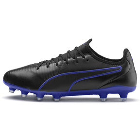 Puma  King Pro FG Soccer Shoes (Puma Black/Royal Blue)
