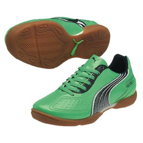 Puma Youth v5.11 IT Indoor Soccer Shoes (Green/Navy)