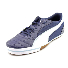 Puma Momentta Vulc Sala Indoor Soccer Shoes (Navy/White)