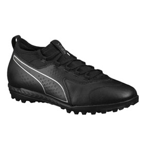 Puma  ONE 3 Leather Turf Soccer Shoes (Black)