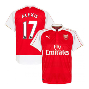 Puma Youth Arsenal Alexis #17 Soccer Jersey (Home 15/16)