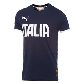 Puma Italy World Cup 2014 T7 Graphic Soccer Tee (Navy)