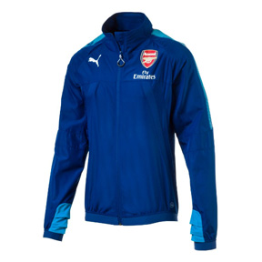 Puma  Arsenal  Stadium Vent Thermo-R Soccer Jacket (Limoges/Blue)