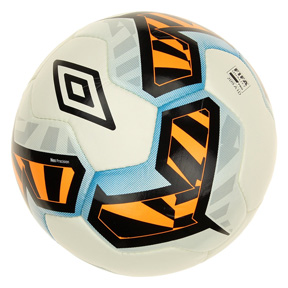 Umbro   Neo Precision Soccer Ball (White/Black/Orange Pop)