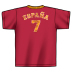 World Cup 2006 Spain #7 Soccer Tee (Red)