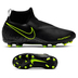 Nike Youth  Phantom Vision Academy DF MG Shoes (Black/Volt)