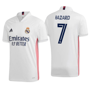 adidas  Real Madrid  Hazard #7 Soccer Jersey (Home 20/21)