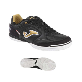 Joma  Top Flex 801 Indoor Soccer Shoes (Black/White/Gold)