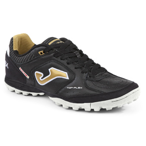 Joma  Top Flex 801 Turf Soccer Shoes (Black/White/Gold)