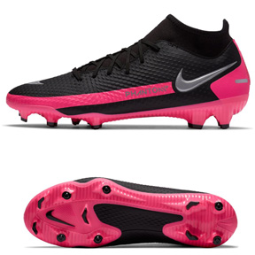 Nike   Phantom GT Academy DF FG/MG Soccer Shoes (Black/Pink)