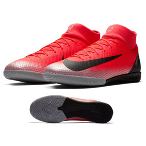 Nike CR7 MercurialX Superfly 6 Academy Indoor Soccer Shoes (Red)