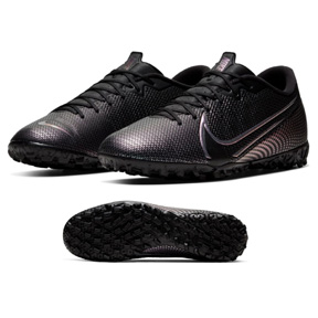 Nike  Mercurial Vapor 13 Academy Turf Soccer Shoes (Black/Black)