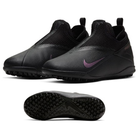 Nike Youth  Phantom Vision 2 Academy Turf Shoes (Black/Black)