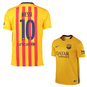 Nike Youth Barcelona Lionel Messi #10 Jersey (Away 15/16)