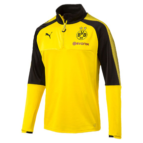 Puma Borussia Dortmund BVB Quarter-Zip Training Track Top (Yellow)