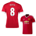 adidas Youth Manchester United Mata #8 Soccer Jersey (Home 15/16)
